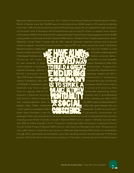 Starbucks Corporation annual report 2011