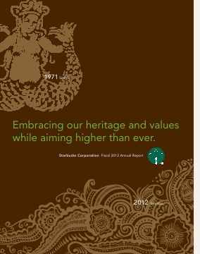 Starbucks Corporation annual report 2012