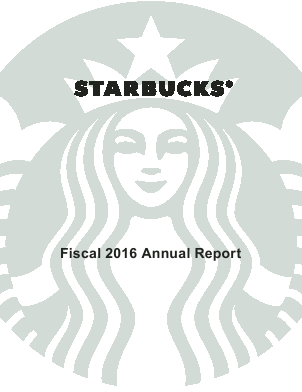 Starbucks Corporation annual report 2016