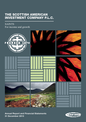Scottish American Investment Co annual report 2013
