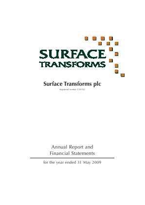 Surface Transforms Plc annual report 2009