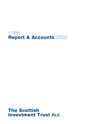 Scottish Investment Trust annual report 2003