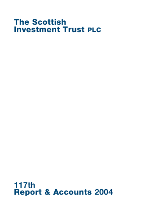 Scottish Investment Trust annual report 2004