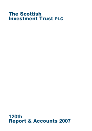 Scottish Investment Trust annual report 2007