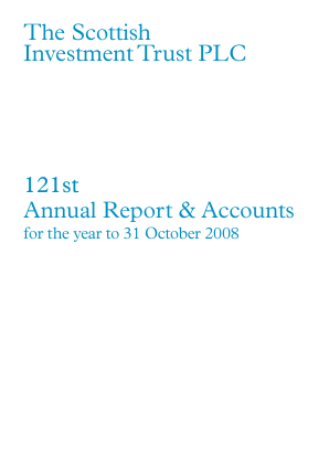 Scottish Investment Trust annual report 2008