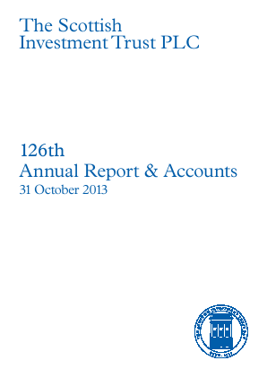 Scottish Investment Trust annual report 2013