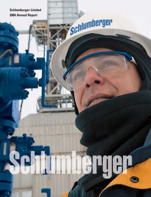 Schlumberger annual report 2004