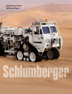 Schlumberger annual report 2005