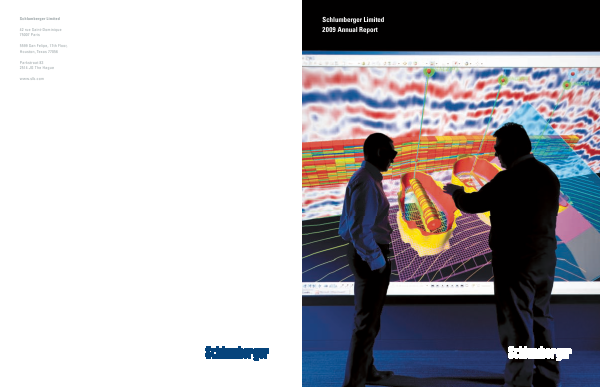 Schlumberger annual report 2009