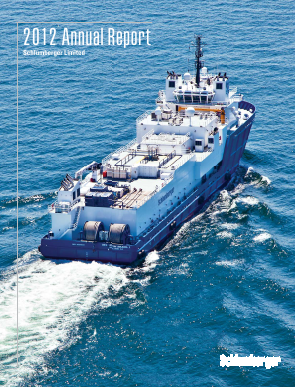 Schlumberger annual report 2012