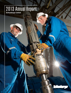 Schlumberger annual report 2013
