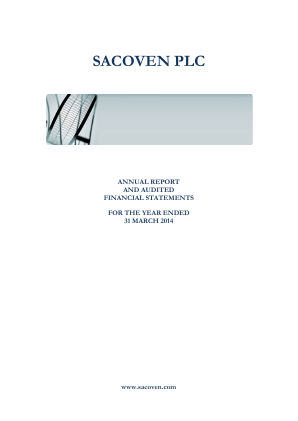 Sacoven Plc annual report 2014