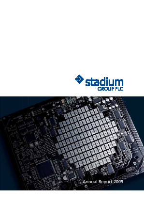 Stadium Group Plc annual report 2009