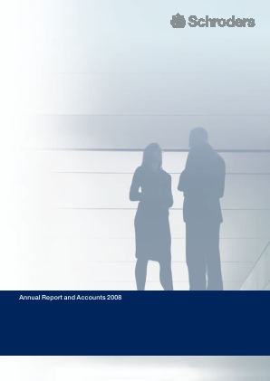 Schroders Plc annual report 2008