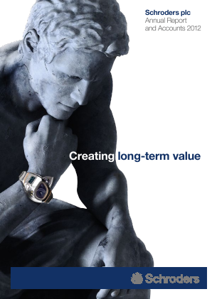 Schroders Plc annual report 2012