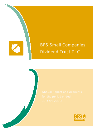 Small Companies Dividend Trust annual report 2000