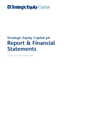 Strategic Equity Capital annual report 2009
