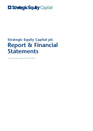 Strategic Equity Capital annual report 2010