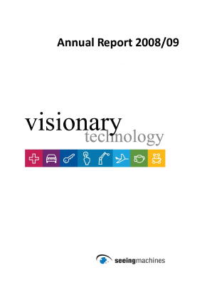 Seeing Machines annual report 2009