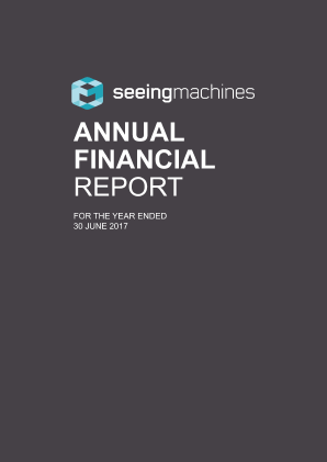 Seeing Machines annual report 2017