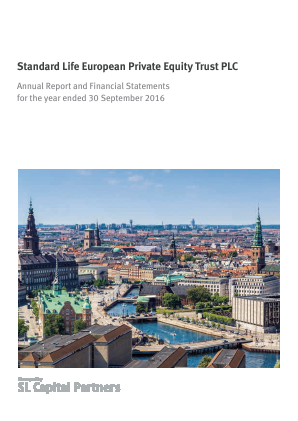 Standard Life European Private Equity Trust annual report 2016