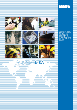 Sepura Plc annual report 2008