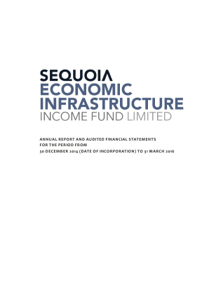 Sequoia Economic Infrastructure Income Fund annual report 2016