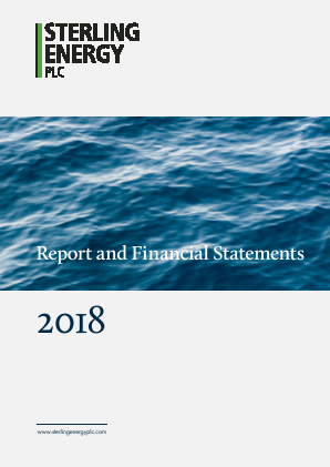 Sterling Energy annual report 2018