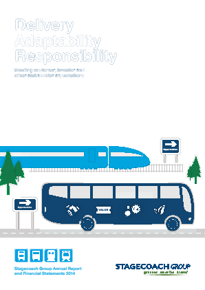 Stagecoach Group annual report 2014