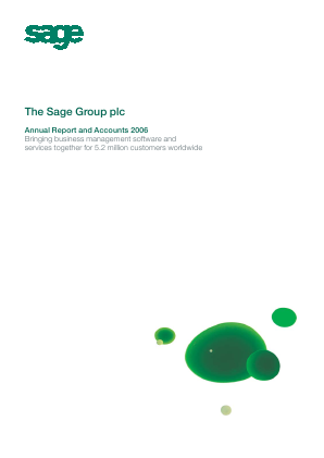 Sage Group annual report 2006