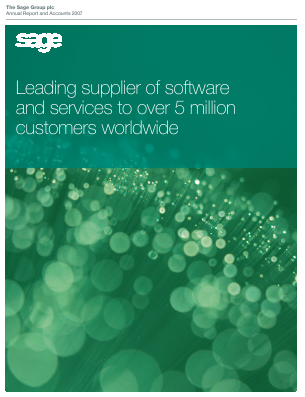 Sage Group annual report 2007