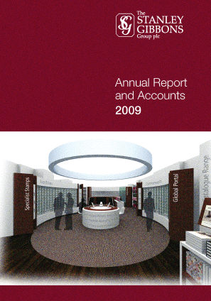 Stanley Gibbons Group Plc annual report 2009