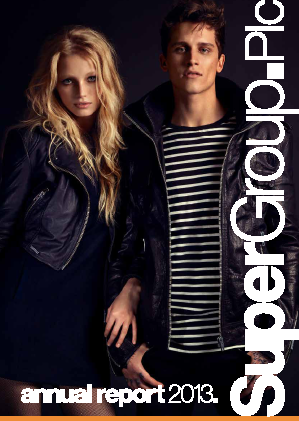 Superdry (previously Supergroup) annual report 2013