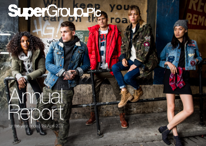Superdry (previously Supergroup) annual report 2017