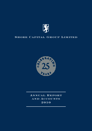 Shore Capital Group annual report 2010