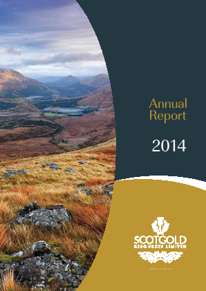 Scotgold Resources annual report 2014