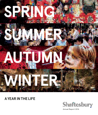 Shaftesbury Plc annual report 2016