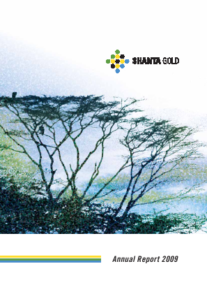 Shanta Gold annual report 2009