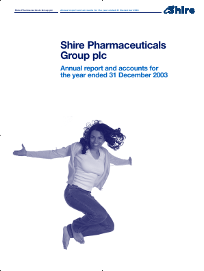 Shire Plc annual report 2003