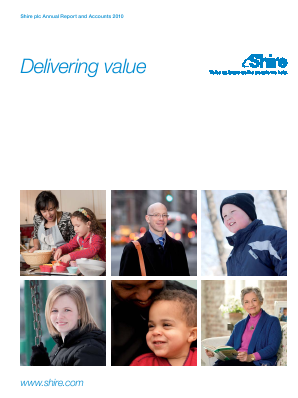Shire Plc annual report 2010