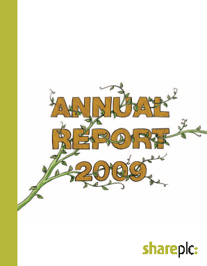 Share Plc annual report 2009