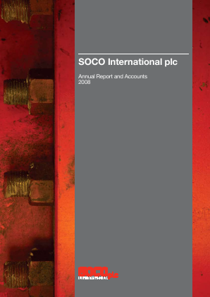 Soco International annual report 2008