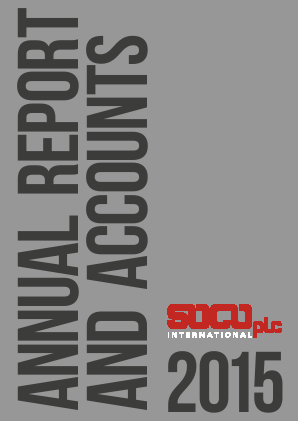 Soco International annual report 2015