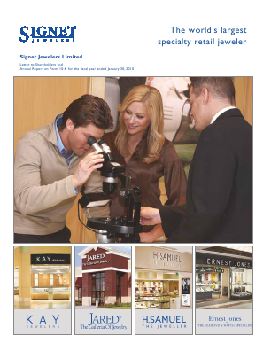 Signet Jewellers annual report 2010