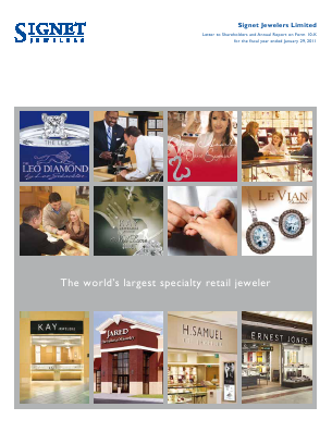 Signet Jewellers annual report 2011