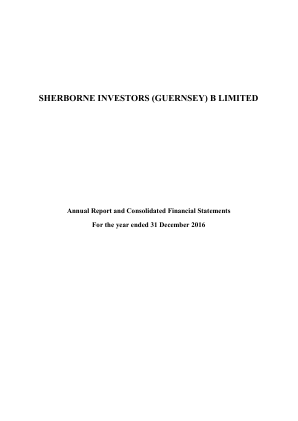Sherborne Investors Ltd annual report 2016