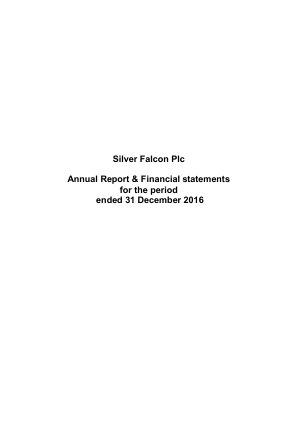 Hemogenyx Pharmaceuticals (Previously Silver Falcon) annual report 2016