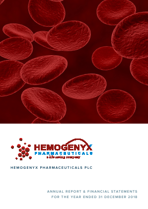 Hemogenyx Pharmaceuticals (Previously Silver Falcon) annual report 2018