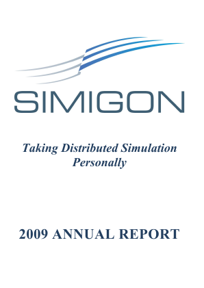 Simigon annual report 2009
