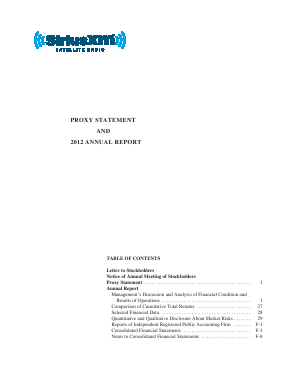 Sirius XM Holdings Inc. annual report 2012